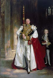 Charles Stewart, Sixth Marquess of Londonderry, Carrying the Great Sword of State at the Coronation of King Edward VII, 1904 by Sargent | Painting Reproduction