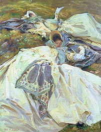Two Girls in White Dresses, c.1909/11 by Sargent | Painting Reproduction