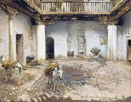 Moorish Courtyard, 1913 by Sargent | Painting Reproduction