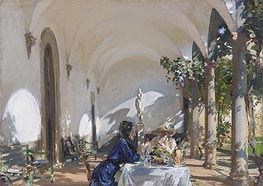 Breakfast in the Loggia | Sargent | Gemälde Reproduktion