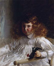 Portrait of Leroy King as a Young Boy, 1888 von Sargent | Gemälde-Reproduktion