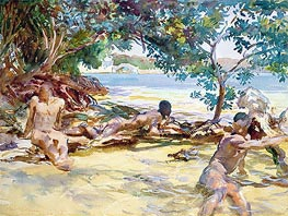 The Bathers, undated by Sargent | Painting Reproduction