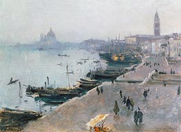 Venice in Grey Weather, undated by Sargent | Painting Reproduction