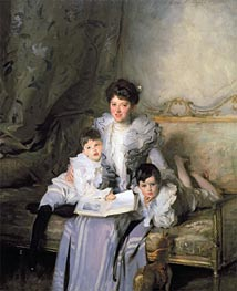 Mrs. Knowles and Her Children | Sargent | Painting Reproduction
