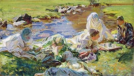 Dolce far Niente, c.1907 by Sargent | Painting Reproduction