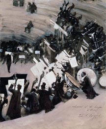 Rehearsal of the Pasdeloup Orchestra at the Cirque d'Hiver, c.1879/80 by Sargent | Painting Reproduction