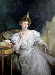 Margherita Goldsmid, later Mrs Raphael, 1906 von Sargent | Gemälde-Reproduktion