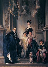 The 9th Duke and Duchess of Marlborough and their Two Sons | Sargent | Gemälde Reproduktion