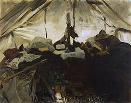 Inside a Tent in the Canadian Rockies | Sargent | Gemälde Reproduktion