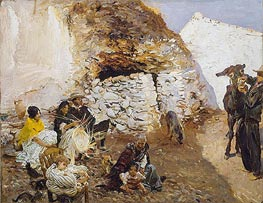 Gypsy Encampment | Sargent | Painting Reproduction
