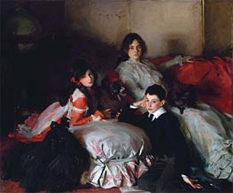 Essie, Ruby and Ferdinand, Children of Asher Wertheimer | Sargent | Painting Reproduction