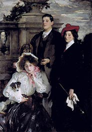 Hylda, Almina and Conway, Children of Asher Wertheimer | Sargent | Gemälde Reproduktion