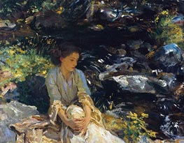 The Black Brook | Sargent | Gemälde Reproduktion