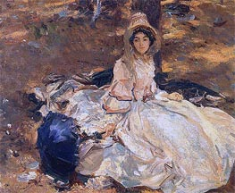 The Pink Dress | Sargent | Gemälde Reproduktion