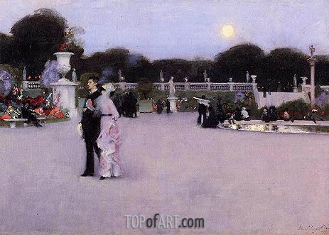 In the Luxembourg Gardens, 1879 | Sargent | Painting Reproduction
