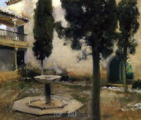Alhambra, Patio de la Reja, 1879 | Sargent | Painting Reproduction