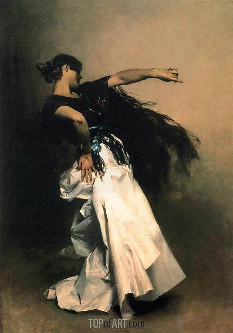 Spanish Dancer, c.1880/81 | Sargent | Painting Reproduction