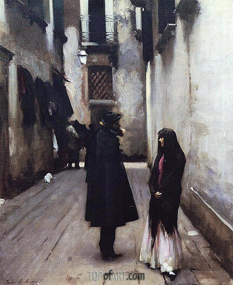Venetian Street, c.1880/82 | Sargent | Painting Reproduction