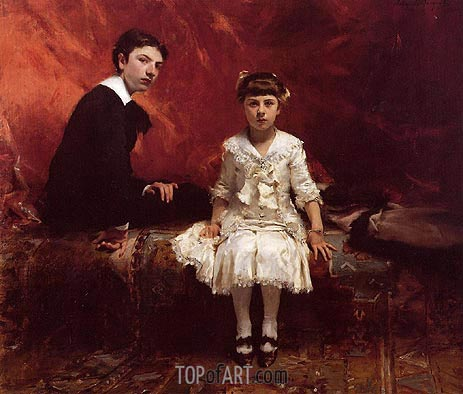 Portrait of Edouard and Marie-Louise Pailleron, 1881 | Sargent | Painting Reproduction