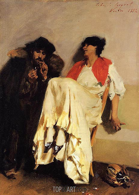 The Sulphur Match, 1882 | Sargent | Gemälde Reproduktion