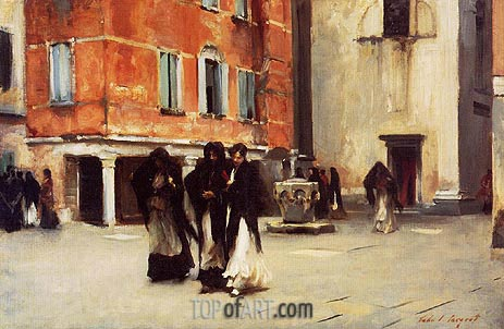 Leaving Church, Campo San Canciano, Venice, c.1882 | Sargent | Gemälde Reproduktion