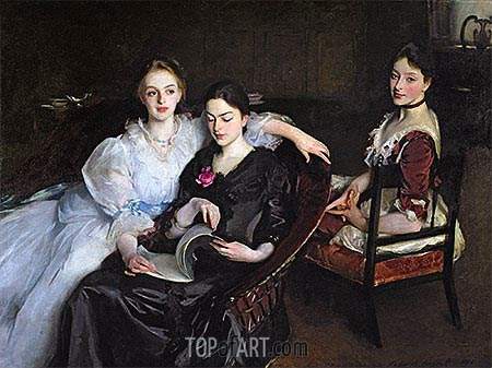 The Misses Vickers, 1884 | Sargent | Painting Reproduction