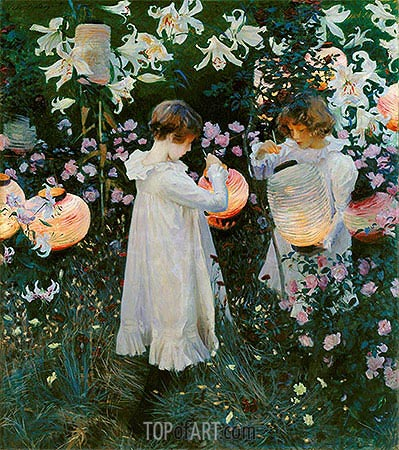 Carnation, Lily, Lily, Rose, c.1885/86 | Sargent | Painting Reproduction