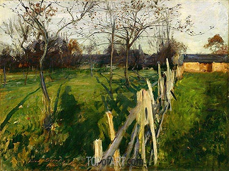 Home Fields, c.1885 | Sargent | Painting Reproduction