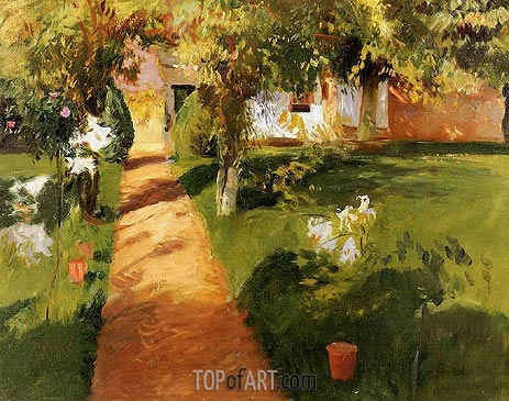 Millet's Garden, 1886 | Sargent | Painting Reproduction