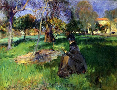In the Orchard, c.1883/85 | Sargent | Painting Reproduction