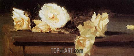 Roses, c.1886 | Sargent | Painting Reproduction