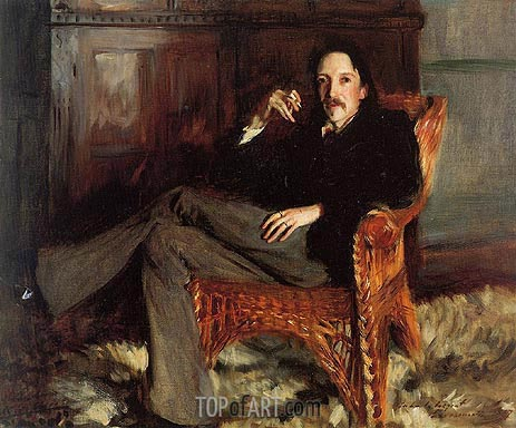 Robert Louis Stevenson, 1887 | Sargent | Painting Reproduction