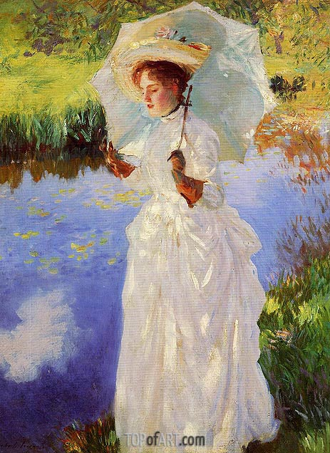 A Morning Walk, 1888 | Sargent | Painting Reproduction