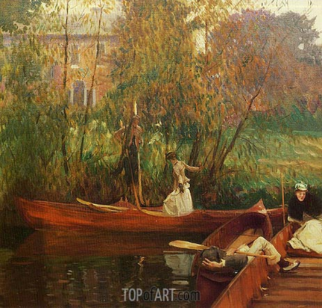 A Boating Party, c.1889 | Sargent | Painting Reproduction