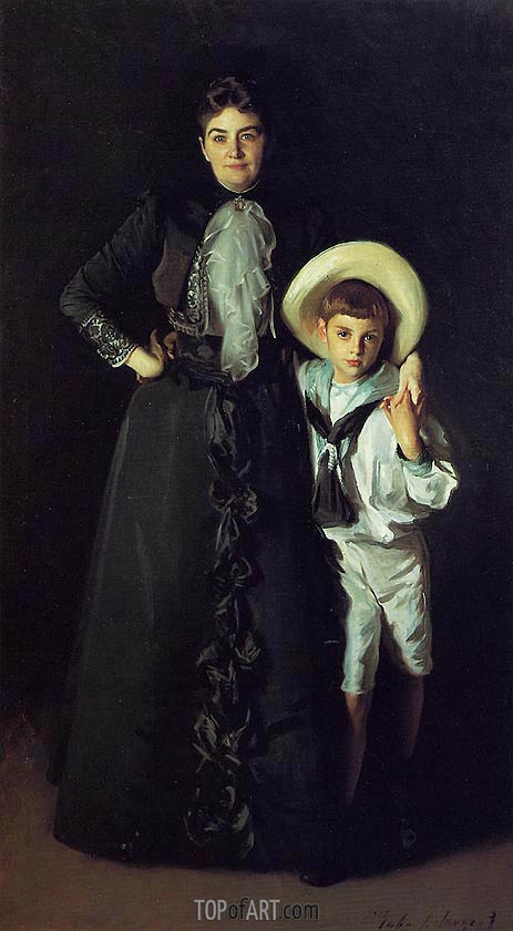 Mrs. Edward L. Davis and Her Son Livingston Davis, 1890 | Sargent | Gemälde Reproduktion