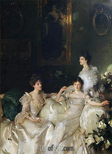 The Wyndham Sisters, 1899 | Sargent | Painting Reproduction