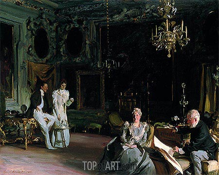 An Interior in Venice, 1899 | Sargent | Painting Reproduction
