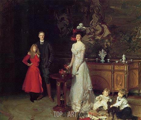 Sir George Sitwell, Lady Ida Sitwell and Family, 1900 | Sargent | Painting Reproduction