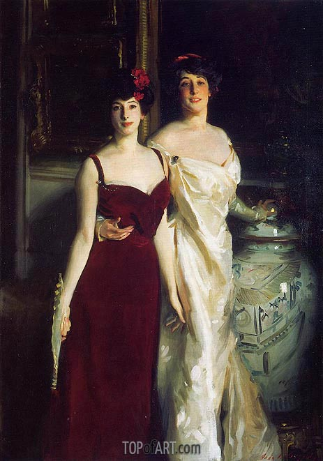Ena and Betty, Daughters of Asher and Wertheimer, 1901 | Sargent | Painting Reproduction