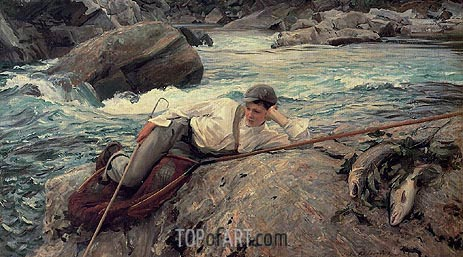 On His Holidays, 1901 | Sargent | Painting Reproduction