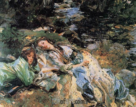 The Brook, c.1907 | Sargent | Gemälde Reproduktion