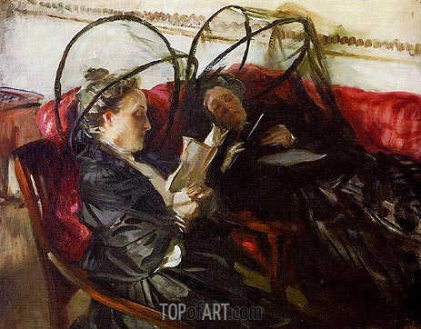 Mosquito Nets, 1908 | Sargent | Gemälde Reproduktion