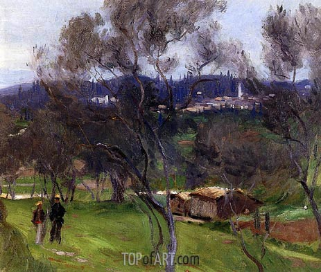 Olive Trees, Corfu, 1909 | Sargent | Painting Reproduction