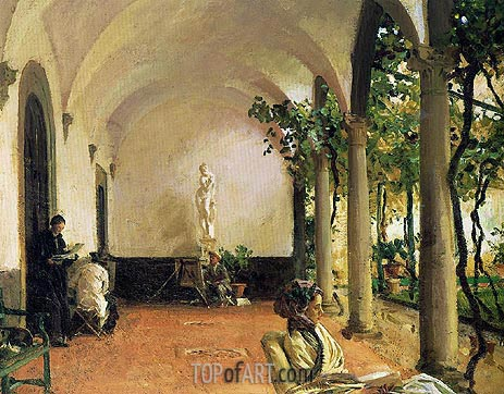 Villa Torre Galli: The Loggia, 1910 | Sargent | Painting Reproduction