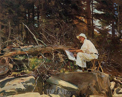 The Artist Sketching, 1922 | Sargent | Gemälde Reproduktion