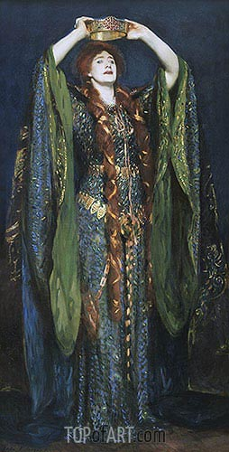 Miss Ellen Terry as Lady Macbeth, 1889 | Sargent | Gemälde Reproduktion