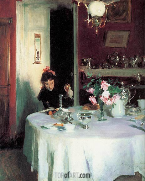 The Breakfast Table, 1884 | Sargent | Gemälde Reproduktion