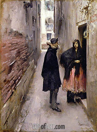 Street in Venice, c.1880/82 | Sargent | Painting Reproduction