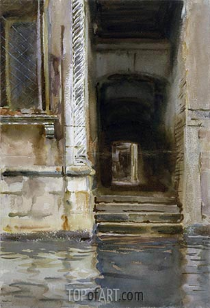 Venetian Passageway, c.1905 | Sargent | Painting Reproduction