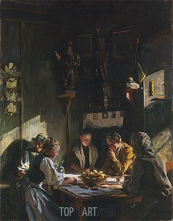 Tyrolese Interior, 1915 | Sargent | Painting Reproduction